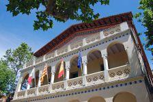 Detall de la façana de l'Ajuntament